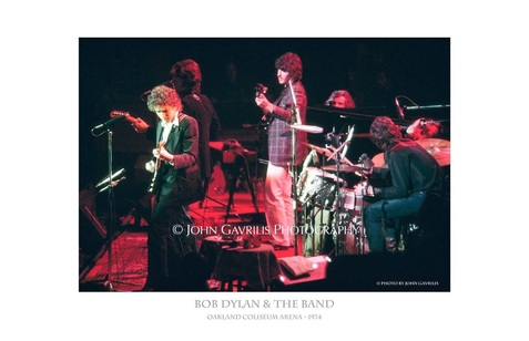 Bob Dylan and the Band - Oakland Coliseum Arena - 1974