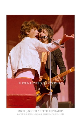 Mick Jagger/Keith Richards - Day on the Green - Oakland Coliseum Stadium - 1978